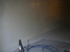6 - Phase finale: application de résine Epoxy pour une finition « propre » du garage ou du sous-sol